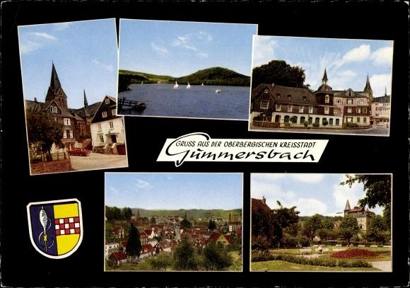 Wappen Ak Gummersbach im Oberbergischen Kreis, Markt, Kirche, Aggertalsperre, Bismarckplatz 0