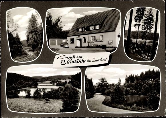 Ak Bleiwäsche Bad Wünnenberg Bürener Land, Waldhaus Fischer, Außenansicht 0