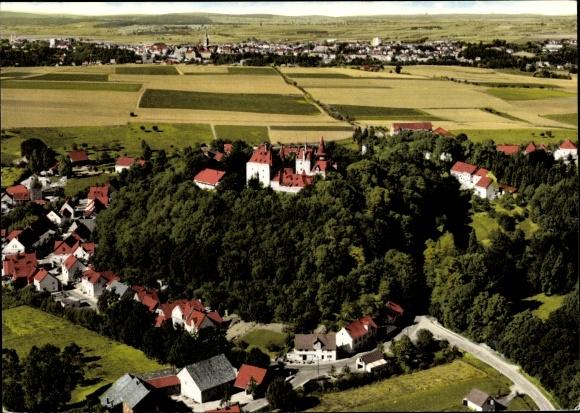 Ak Calenberg Warburg Westfalen, Luftaufnahme 0