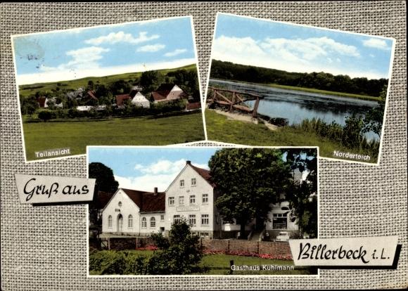 Ak Billerbeck in Westfalen, Gasthaus Kuhlmann, Norderteich, Teilansicht 0