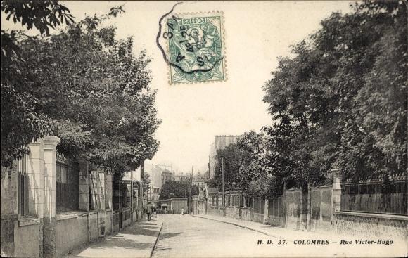 Ak Colombes Hauts de Seine, Rue Victor Hugo 0
