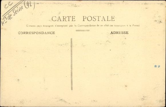 Ak Colombes Hauts de Seine, Place de la Mairie et la Fontaine 1