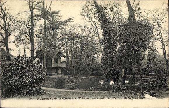 Ak Fontenay aux Roses Hauts de Seine, Château Boucicaut, Le Parc 0
