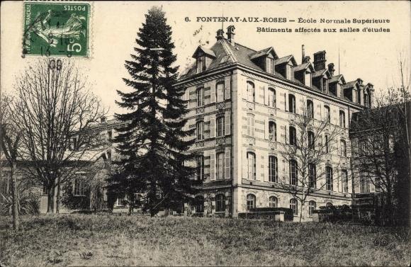 Ak Fontenay aux Roses Hauts de Seine, École Normale Supérieure, Salles d´Études 0