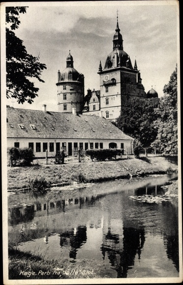 Ak Køge Danmark, Parti fra Vallø Slot 0