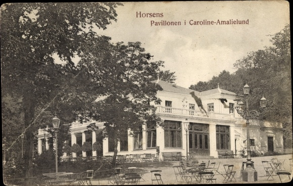 Ak Horsens Dänemark, Pavillonen i Caroline-Amalielund 0