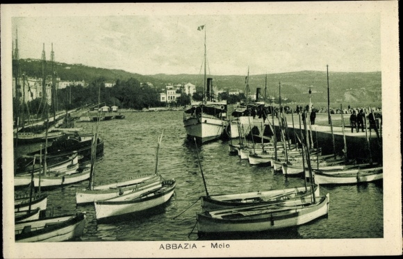 Ak Abbazia Kroatien, Bootshafen 0