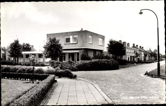 Ak Leek Groningen Niederlande, Groene kruis gebouw 0