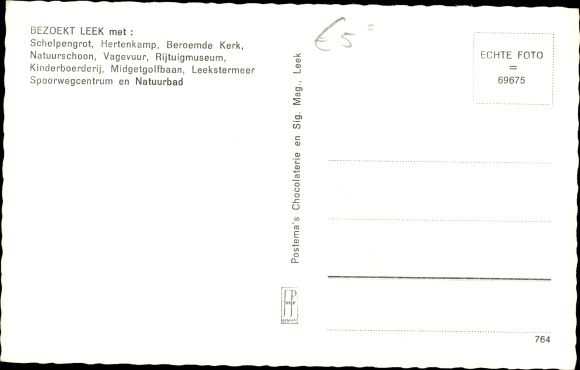 Ak Leek Groningen Niederlande, Groene kruis gebouw 1