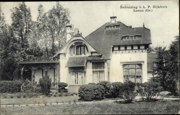 Ak Leens Groningen, Behuizing v. h. P. Dijkhuis 0