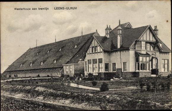Ak Leens-Ulrum Groningen, Westerhouw aan tramlijn 0