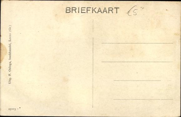 Ak Leens Groningen, Behuizing v. h. P. Dijkhuis 1