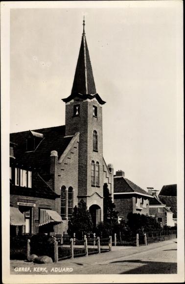Ak Aduard Groningen, Geref. Kerk 0