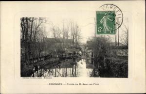 Ak Essonnes Essonne, Pointe de Saint Jean en L´Isle