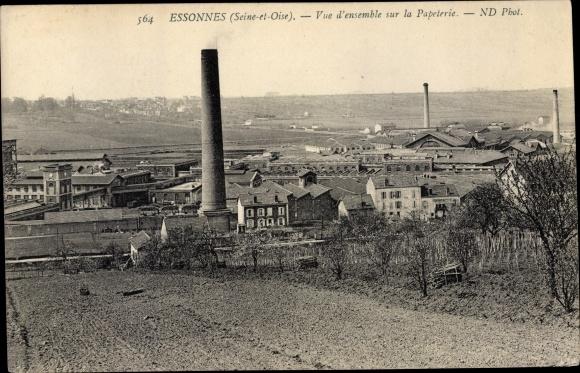 Ak Essonnes Essonne, Vue d´Ensemble sur la Papeterie 0