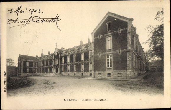 Ak Corbeil Essonne, Hôpital Galignani 0