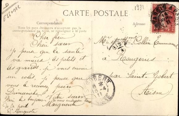 Ak Corbeil Essonne, Inondations de Janvier 1910, Rue des Grandes Bordes 1