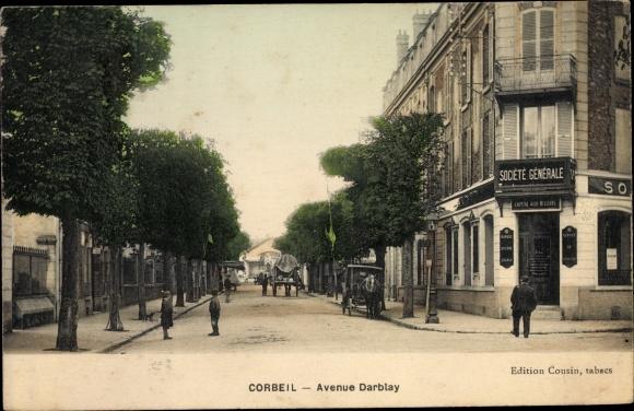 Ak Corbeil Essonne, Avenue Darblay 0