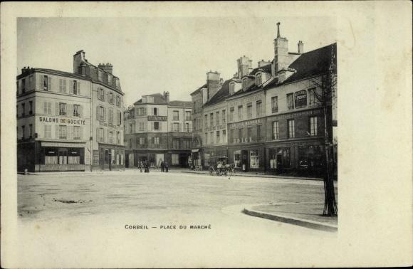 Ak Corbeil Essonne, Place du Marché 0