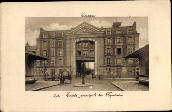 Ak Essonnes Essonne, Entrée des Papeteries 0