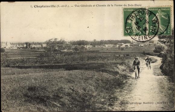 Ak Cheptainville Essonne, Vue Générale et Chemin de la Ferme du Bois Blanc 0