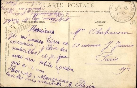 Ak Cheptainville Essonne, Vue Générale et Chemin de la Ferme du Bois Blanc 1