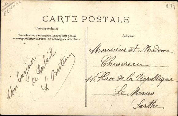 Ak Corbeil Essonne, Inondations de 1910, Rue Saint Spire 1