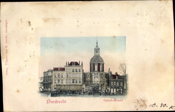 Präge Passepartout Ak Dordrecht Südholland Niederlande, Groot-Hoofd 0