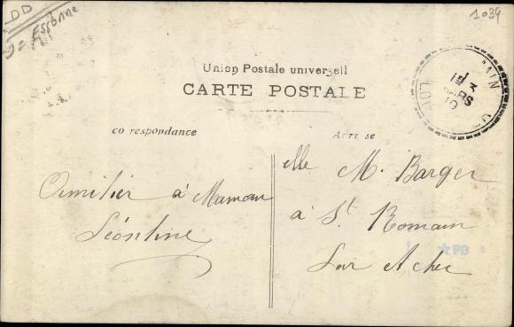 Ak Corbeil Essonne, Inondations de Janvier 1910, Rue Saint Spire 1