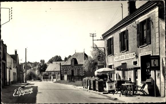 Ak Buthiers Roncevaux Seine-et-Marne, La Grande Rue 0