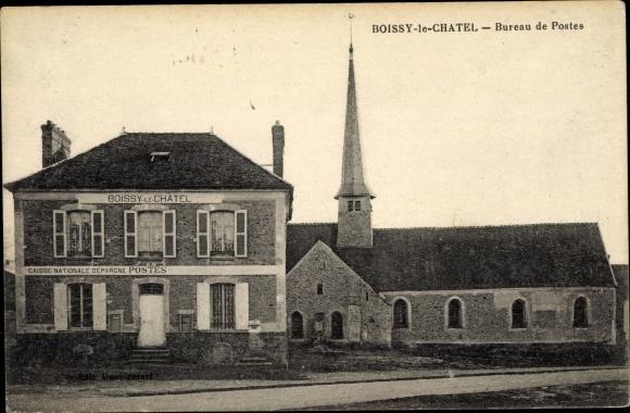 Ak Boissy-le-Châtel Seine et Marne, Bureau de Postes 0
