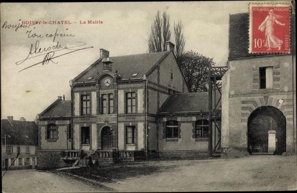 Ak Boissy-le-Châtel Seine et Marne, La Mairie 0