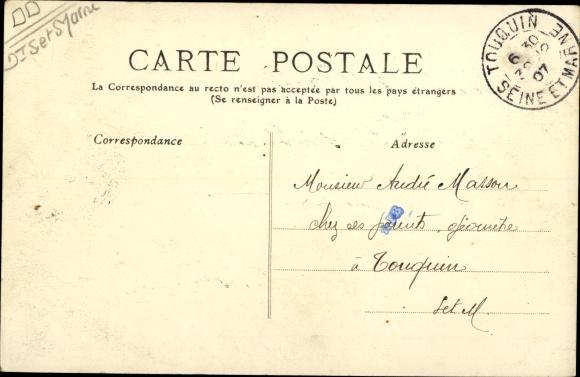 Ak Boissy-le-Châtel Seine et Marne, La Mairie 1