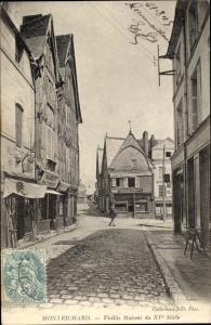 Ak Montrichard Loir-et-Cher, Vieilles Maisons