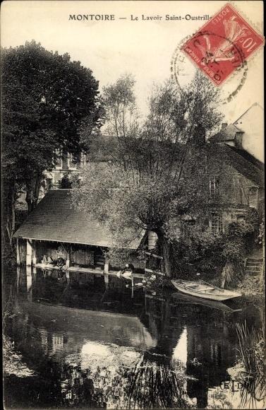 Ak Montoire Loir et Cher, Lavoir Saint Oustrille 0