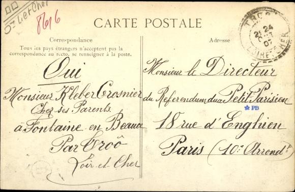 Ak Montoire Loir et Cher, Lavoir Saint Oustrille 1