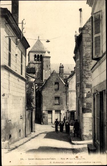 Ak Saint Aignan sur Cher Loir et Cher, Rue de la Raquette 0