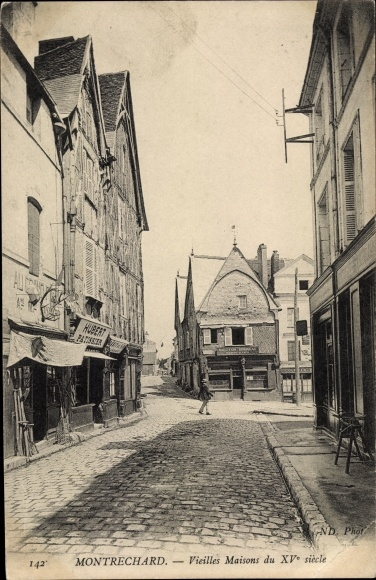 Ak Montrichard Loir-et-Cher, Vieilles Maisons 0