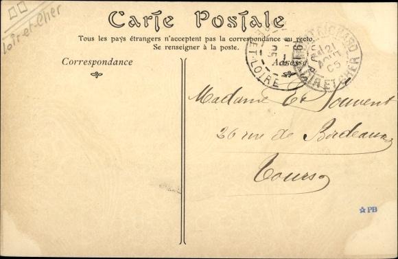 Ak Montrichard Loir-et-Cher, Rue du Pont et le Château 1