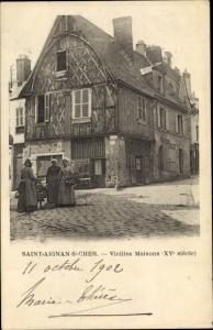 Ak Saint Aignan sur Cher Loir et Cher, Vieilles Maisons