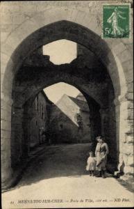 Ak Mennetou sur Cher Loir et Cher, Porte de Ville