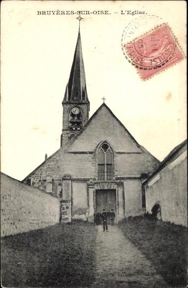 Ak Bruyères-sur-Oise, L´Église 0
