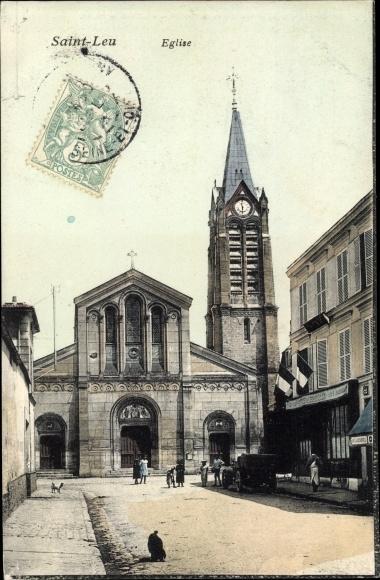 Ak Saint Leu Val d´Oise, Église 0