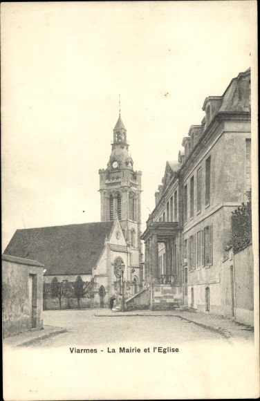 Ak Viarmes Val-d´Oise, Église 0