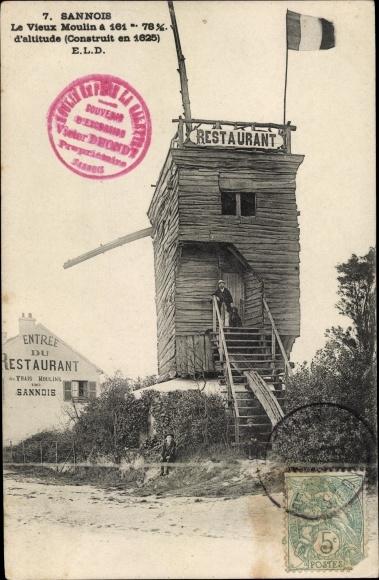 Ak Sannois Val d'Oise, Le Vieux Moulin, Restaurant 0