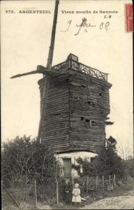 Ak Argenteuil Val d'Oise, Le Vieux Moulin de Sannois
