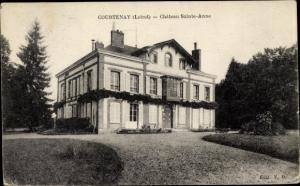 Ak Courtenay Loiret, Chateau Sainte-Anne