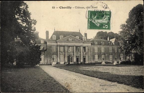 Ak Chevilly Loiret, Chateau, cote Nord 0