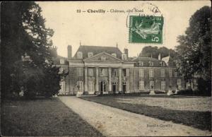 Ak Chevilly Loiret, Chateau, cote Nord