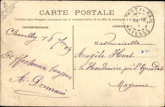 Ak Chevilly Loiret, Chateau, cote Nord 1
